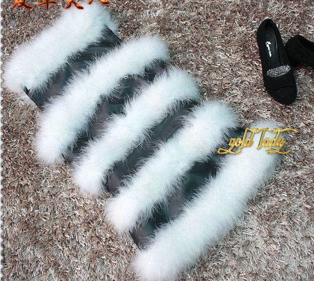 Жилет из натурального меха страуса, зимний теплый жилет, Модный женский меховой жилет - Цвет: white