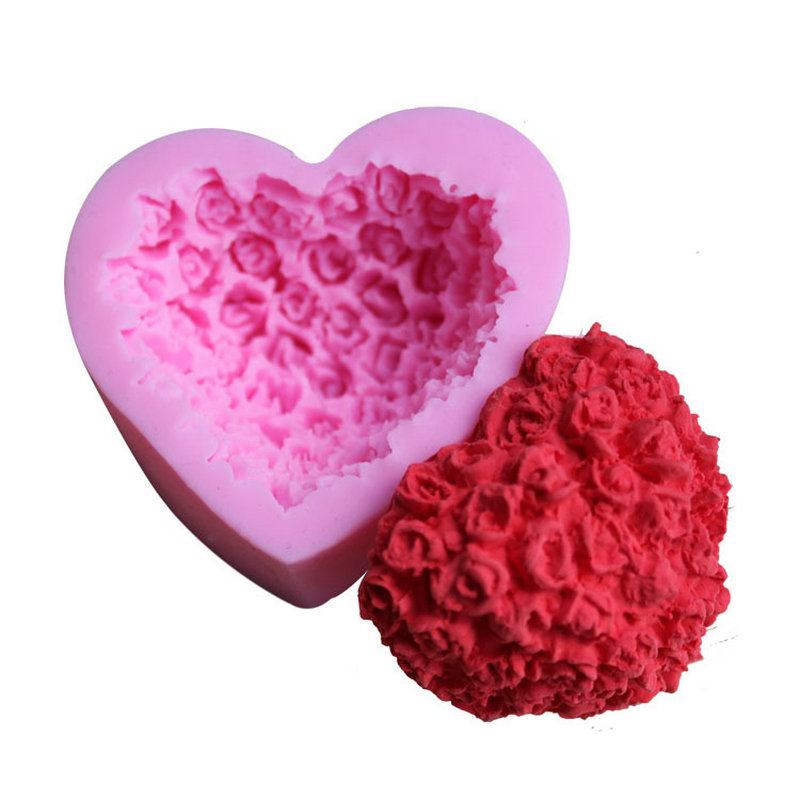 Heart Shape Silicone Cake Mold Diy Chocolate Soap Molds Sugar Craft Cake Decorating Tools Form