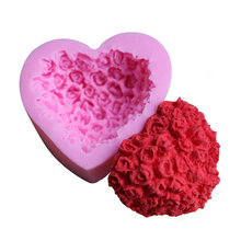 New Arrival 1pc heart shape Silicone Cake Mold DIY Chocolate Soap Molds Sugar Craft Decorating Tools Form for cakes
