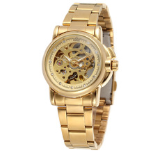 Luxury Gold Women Automatic Mechanical Watches Women Fashion Stainless Steel Clock Ladies Crystal Hollow Skeleton Watch Saati nakzen ladies watch stainless steel sapphire crystal watches automatic mechanical diamond crystal black female watches clock