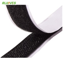 RLJLIVES 2 Rolls 2cm*1m Black Hook and Loop Self Adhesive Fastener Strong Tape Hook and Loop Tape adhesive