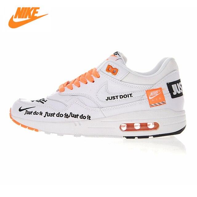 c542ae7448 Nike Air Max 1 Just Do It hombres y zapatos corrientes de las mujeres