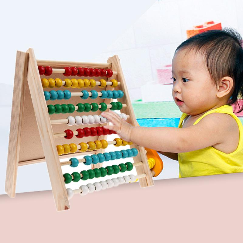 Wooden Mathmatic Learning Board Toys Wood Abacus Math Teaching Study Tools Multifunctional Toys Early Educational Gift Present