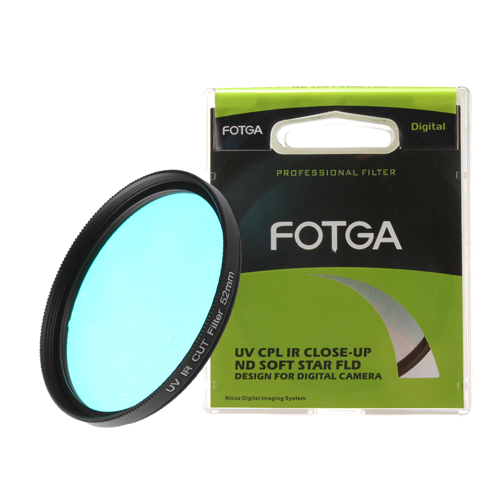 FOTGA Optical Glass UV-IR CUT filter 52mm 58mm Infrared Pass X-Ray IR UV Filter for DSLR Nikon Canon Camera светофильтр b w 486 uv ir cut 72mm 31975