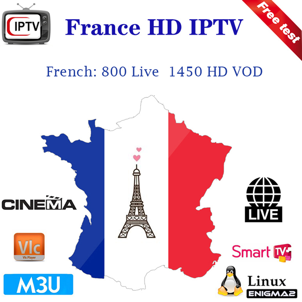 1 year IPTV France Subcription with 800 Faench Channels Adult News Live Sport Cinema support VLC media player TV Box Android H96