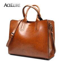 2e85a35b65be ACELURE кожаные сумочки большой Для женщин сумка Высокое качество  Повседневная Женская обувь сумки багажник тотализатор испанского