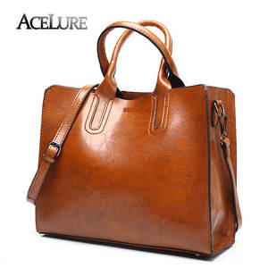 55ce51805f ACELURE Leather Handbags Women Female Shoulder Bag Ladies