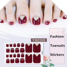 22tips/ sheet Mixed Design New Nail Art Sticker Full Cover Self Adhesive Stickers Water Decal Slider Wraps Decor Manicure