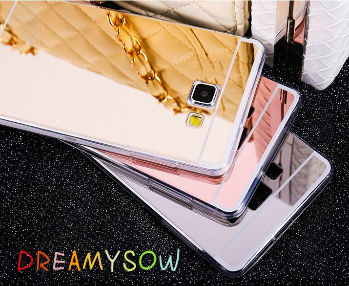 DREAMYSOW Bling Mirror Case Back Cover For Samsung Galaxy J1 J120 ACE J3 J320 J5 J7 J510 A3 A5 A7 2015 2016 2017 S8 C7 Glossy