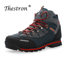 Thestron Man Hiking Shoes Rubber Bottom Outdoor Sneakers Men Autumn Winter Mens Hunting Boots Black Yellow Mountain Male Sneaker