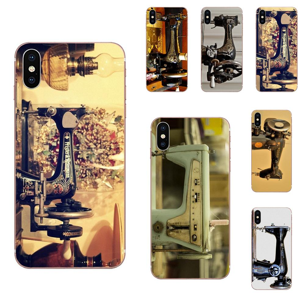 Sewing Machine TPU Cases Capa Cover For Galaxy Grand A3 A5 A7 A8 A9 A9S On5 On7 Plus Pro Star 2015 2016 2017 2018 image