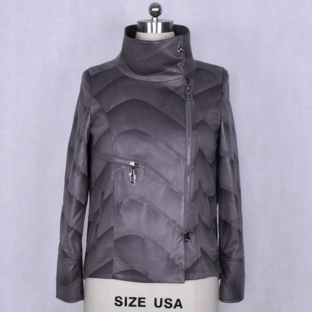 Factory direct supplier Suede Leather Faux clothing Women s jacket  Windbreaker wholesale Fashion 823cd729a