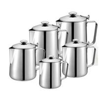 Stainless Steel Pull Flower Espresso Frothers Frothing Garland Cup Milk Jug Large Capacity Coffee Pot Used