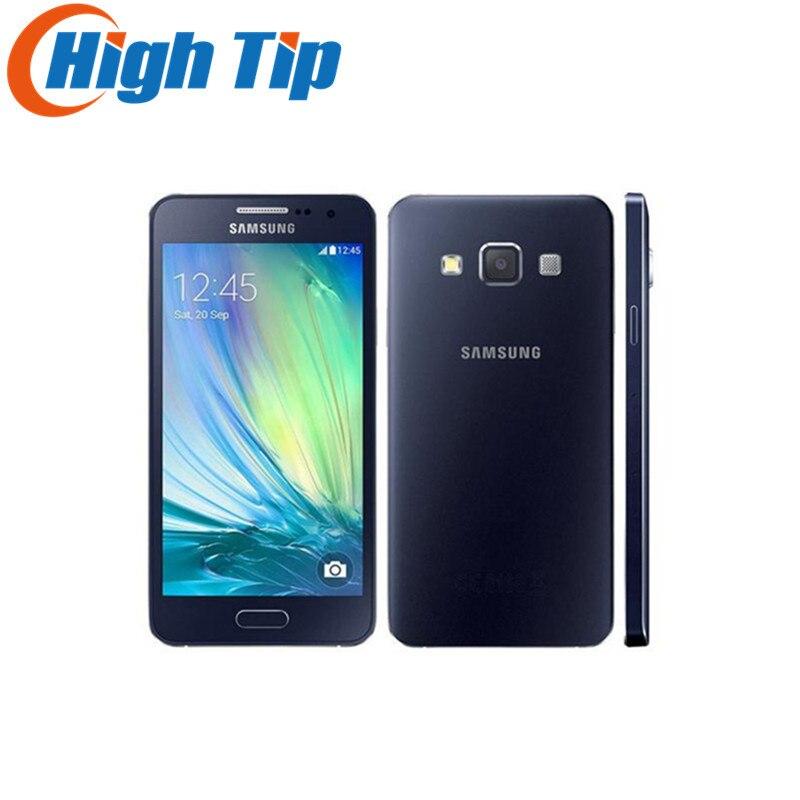 bilder für Freigesetzte Ursprüngliche Samsung Galaxy A3 A3000 A300F Quad-Core Android 4.5 Zoll 8 GB ROM 4G 8.0MP Kamera Refurbished Handy