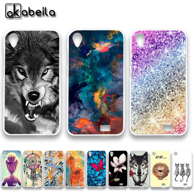 AKABEILA Soft TPU Silicon Phone Cases For Doogee Homtom HT16 Covers Rose Flower Butterfly Bags Skin Shield Hood Case Back Shell