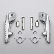 1Pair Motorcycle Aluminum Front Footrest Motorbike Foot Pegs Rests for Honda CBR600RR 2003-2006 CBR1000RR 2004-2014 Chrome