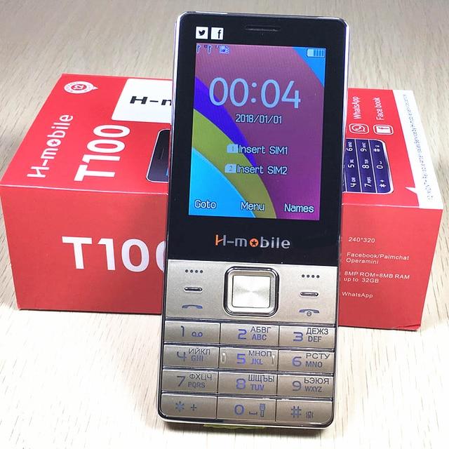 """על מכירת חיסול 2.8 """"מסך הכפול Sim גדול קול נייד טלפון ספרדית רוסית שפה רוסית מקלדת T100 T200 טלפונים"""