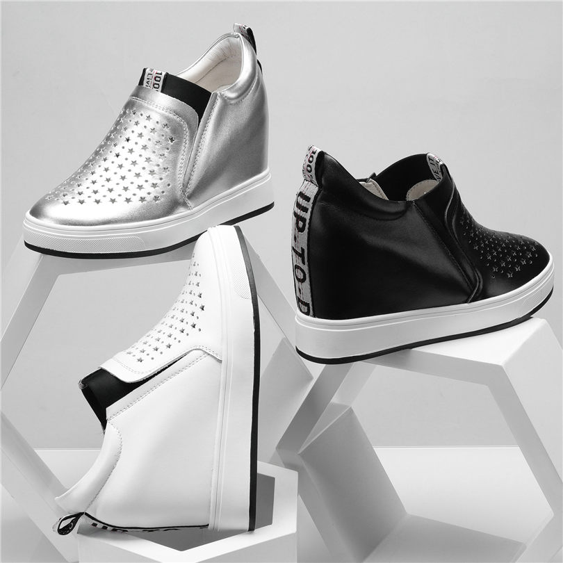2019 Gladiator Tennis Sneakers Women Shoes Cow Leather Wedges High Heel Sandals Breathable Platform Oxfords Punk Summer Trainers