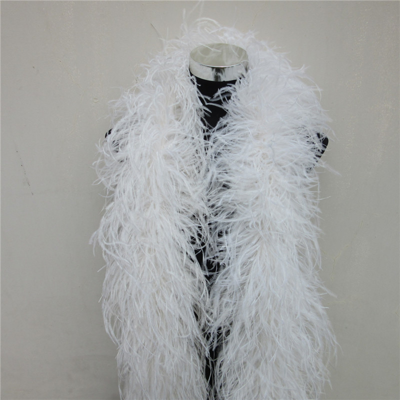 YY tesco 2 Yards/Lot 6 Layer Natural Fluffy Ostrich Feather Boa Costumes/Trim For Party/Costume/Shawl/Craft Ostrich Feather-in Feather from Home & Garden    2