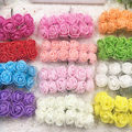 144 PCSPE simulation flower foam flower small rose wedding candy box rose bouquet wedding household decoration supplies