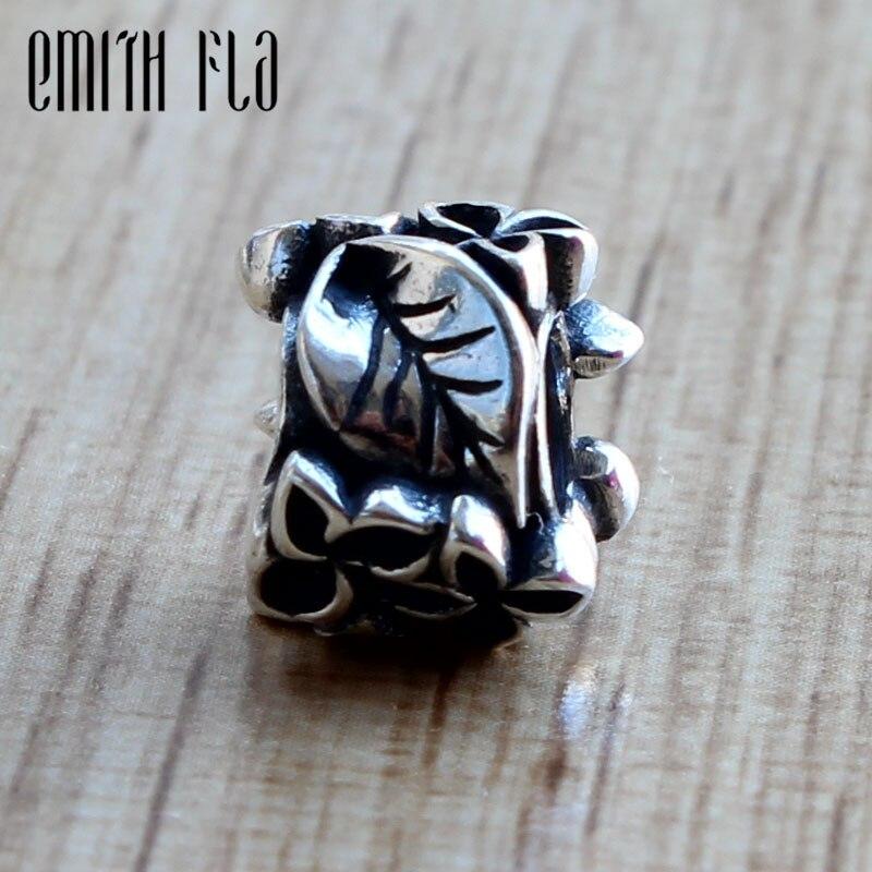 578e7a425a39 Emith Fla genuino 925 Plata de Ley cuentas de encanto de Lila ajuste  Original pulsera de joyería ...