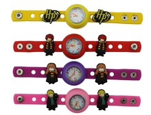 1 piece Diy cute silicone kid Wristwatch watch with 14pieces Harry Potter shoe charms for party gift(China (Mainland))