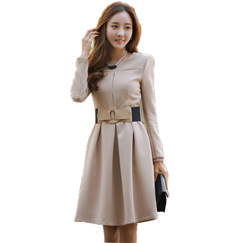 Long Sleeve a Line Dresses for Women