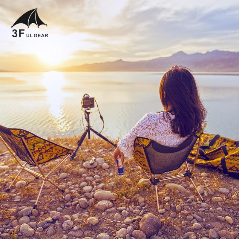 3F UL GEAR Ultralight Folding Beach Chair Recreational Fishing Camping The Sketch Back Rest Chair
