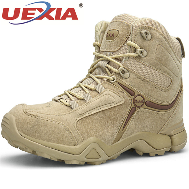 UEXIA Winter Autumn Shoes Men Military Boot Quality Special Force Tactical Desert Combat Ankle Boats Army Work Shoes Snow Boots homass winter autumn men military boots quality special force tactical combat ankle boats army work shoes flock safety boots