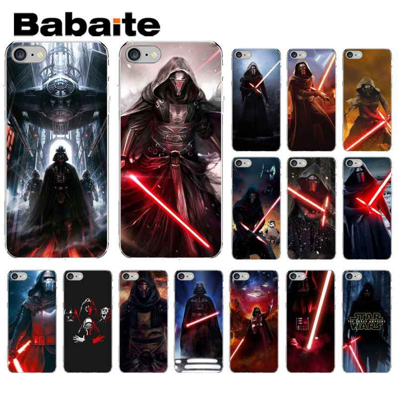Babaite Darth vader Star wars funda de silicona suave transparente para iPhone 8 7 6 6 S Plus 5 5S SE XR X XS X MAX Coque Shell