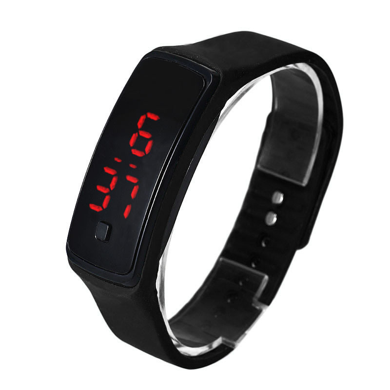 2018 Fashion Ultra Thin Men Girl Sports Silicone Digital LED Bracelet Wrist Watch sport watch montre femme nueva girl sports digital bracelet men s women s silicone red led sports bracelet touch watch digital wrist watch