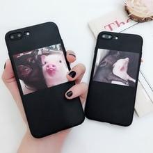 Funny Pig Print Phone Case iPhone 5 5s 6 6s Plus 7 7 Plus 8 X