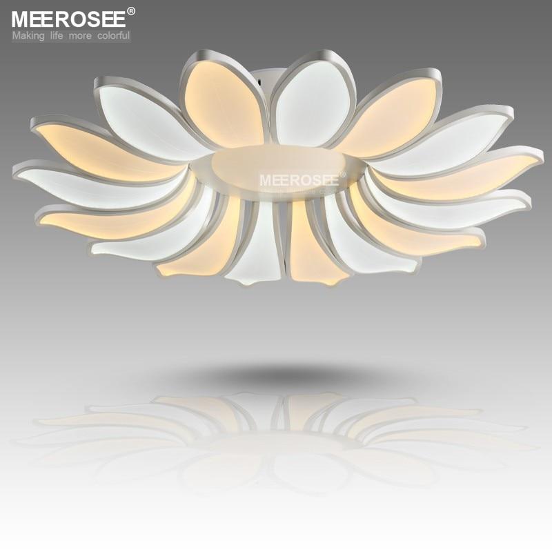 Creative Led ceiling lights Fixture Art Deco Flower Acrylic Led Lamp Modern Lustres Dining Living Room Lamparas De Techo Light