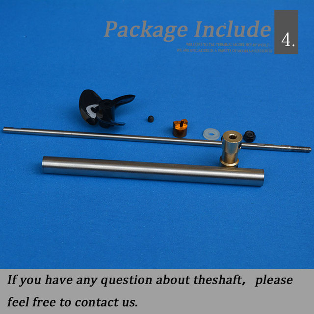 Boat 3mm Ship Shaft  Stainless Steel  Boat Shaft Drive Shaft +Three Blade propeller +Shaft Sleeve+Couplings/set