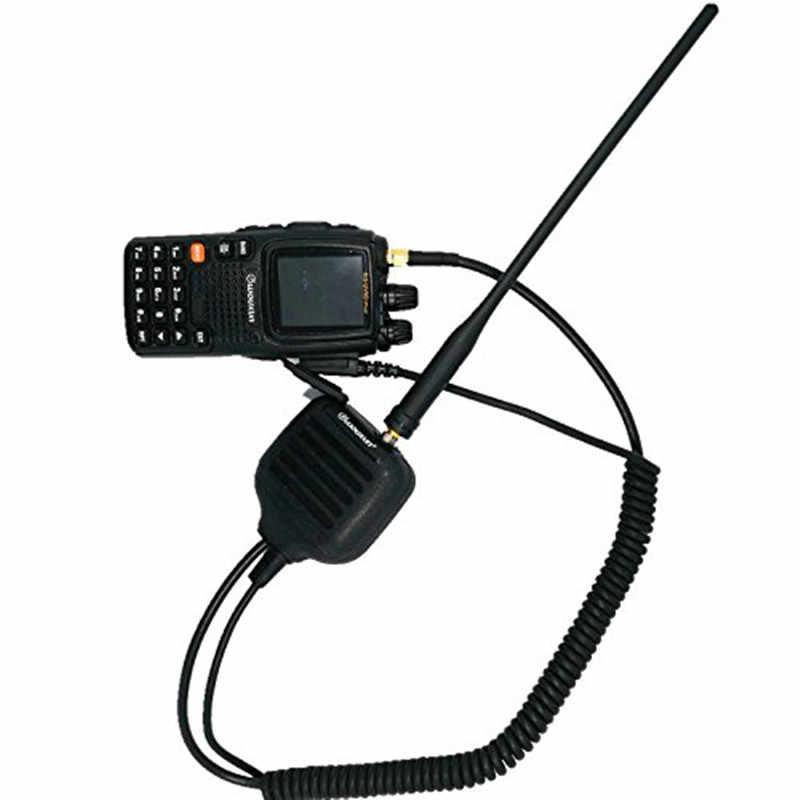Authentique Wouxun authentique avec l'antenne main haut-parleur Microphone pour Radios bidirectionnelles KG-UVD1P, KG-UV6D, KG-UV8D, KG-UV9D Plus