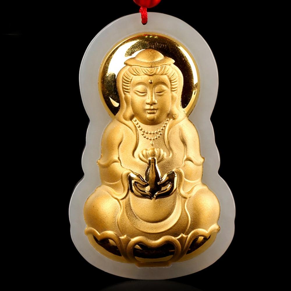 Jade Buddha Pendant Jewelry Mens Necklace High Fashion Jade Buddha Pendant Jewelry Fine Gold Necklace long yi taishan jade rat necklace body wangcai anti villain 8000386