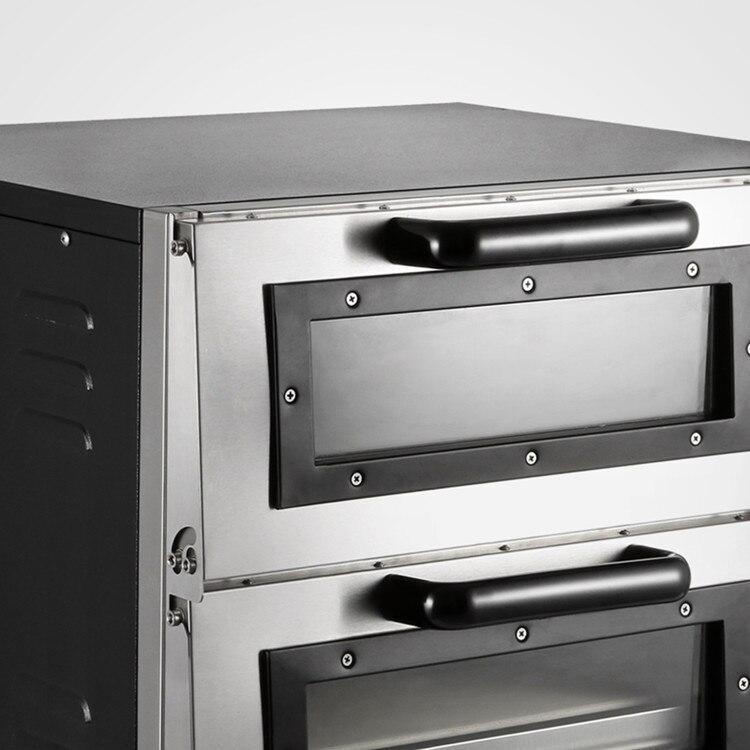Ligue A Fonte De Alimentação Aquecer Rapidamente 3000 W Forno de Pizza Assando Aço Inoxidável Double Deck - 4
