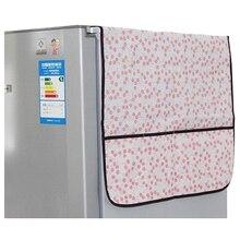 Лидер продаж, 1 шт. Холодильник пыленепроницаемый крышка нетканых многофункциональный чехол для хранения Организатор сумка (розовая вишня) 150*50 см