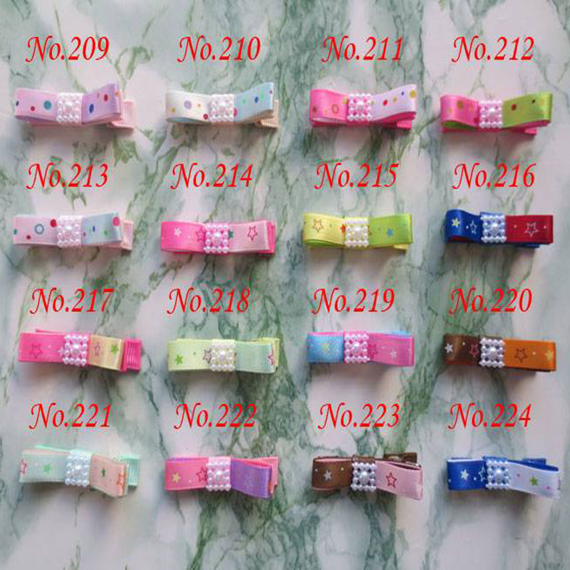 100 PCS BLESSING Good Girl Boutique Hair Clip 2 Two tone Bow 384 No. hair accessories