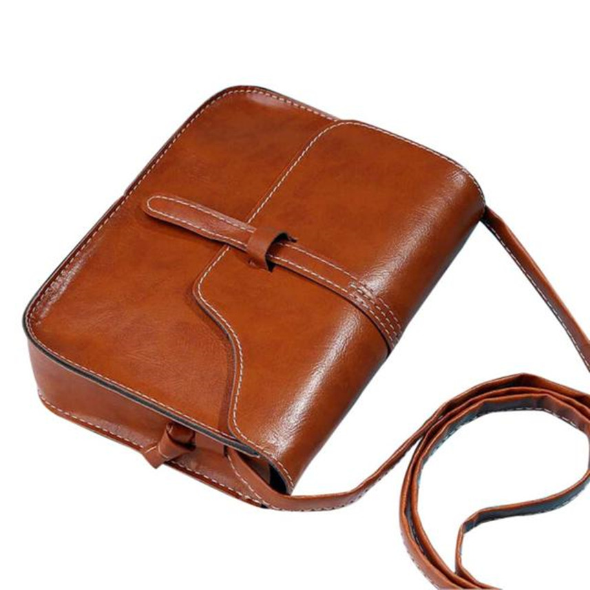 b7247a5c15 Bolsas 2017 Vintage Purse Bag Leather Crossbody Handbag Ladies tops  Shoulder bags Women Messenger bags Brown Bolsas de ombro on Aliexpress.com