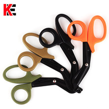 Купить с кэшбэком Outdoor Survival Rescue Scissors EMT Tactical Gauze Canvas Scissor Military Medical First Aid for Camping Hike Emergency EDC kit
