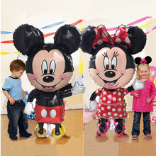 Giant Balloon Mickey Inflatable Birthday Party Decorations Mouse Kids Balls Foil Air Balloons Child Toys Gift стоимость