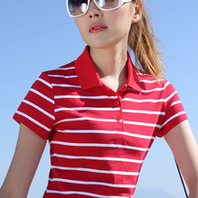 2017 Summer Casual Women Poloshirt Plus Size Girls Cotton Polo Short Sleeve print Slim Fit Oversized Womens-Polo-Shirt P007
