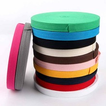 Cotton Ribbon Multicolour 10mm 1cm Ruban Satin Webbing Herring Bonebinding Tape Christmas Ribbons Handmade Accessories 50yards