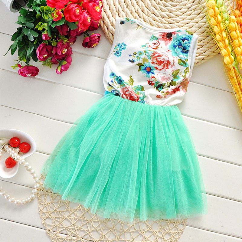 e125022e315f Cute Lovely Casual Summer Girls Dress Baby Toddler Princess Flowers Dress  Chiffon Children Dresses Chilren Clothes FY TZ0001 A1-in Dresses from  Mother ...