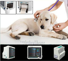 Printer CE VET veterinary use ICU Patient Monitor,8.4 color TFT display,for pet