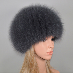 Image 4 - Luxury 100% Natural Real Fox Fur Hat Women Winter Elastic Knitted Real Fox Fur Bomber Cap Girls Warm Soft Fox Fur Beanies Hats