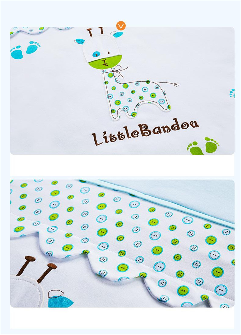 7 Pieces Baby bedding Sets Small Deer Button Printing Seven Sets Pillowx2+Bed Sheets+Bedside+Bed Cushions+ Quilt +Sheets Core7