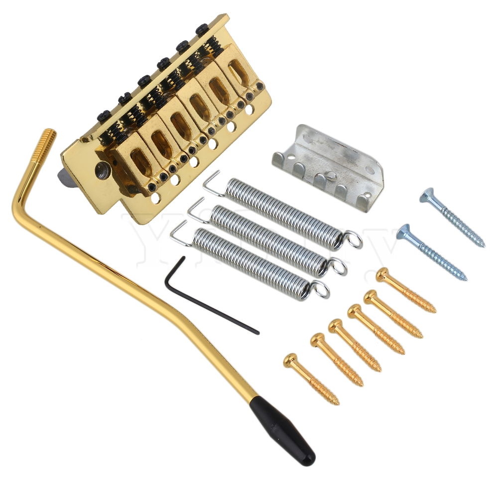 Yibuy Gold Tremolo Bridge Set För Elgitarr
