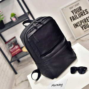 Image 2 - XIAODOO Black Leather Mens backpack Travel Casual Waterproof Laptop Backpack for man Fashion School Bag PU Leather Male 2019